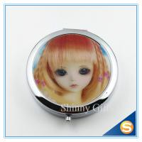 Wholesale 7.0cm Decorative round metal pill box metal round mini pill box 3 day pill box with Mirror from china suppliers