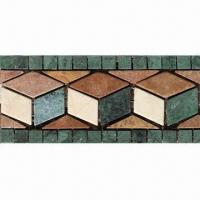Wholesale Stone Mosaic Border, Sized 295 x 100mm, Suitable for Outdoor and Inner Kitchen from china suppliers