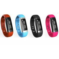 Wholesale rfid Smart Wristband Bracelet with pedometer , Black / Red / Blue / Orange from china suppliers