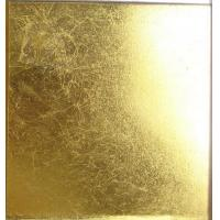 Wholesale Square Gold Leaf Mosaic Tile, Plain Glass Gold Mosaic Tiles 20x20mm from china suppliers
