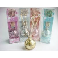 Wholesale Round Glass Lavender Fragrance Oil Reed Diffuser Set With Lid Homechic from china suppliers
