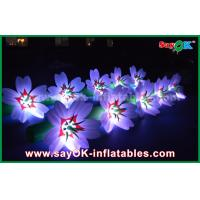 Quality 5m White Long Ground Nylon Cloth LED Flower Chain Inflatable Light Decoration for sale