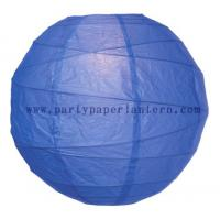Wholesale Cobalt blue Round Pretty Party Paper Lantern 8 Inch Environment - friendly from china suppliers