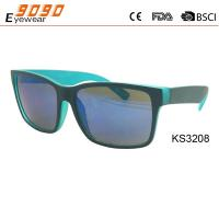 China 2018 hot sale of rectangle children's Sunglasses, double color ,suitable for boys on sale