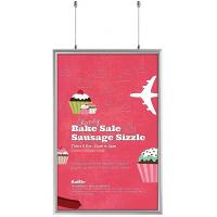 Wholesale Double Sided Snap Frame Aluminum Finish Poster Frame Displays for advertising A3 size sign from china suppliers
