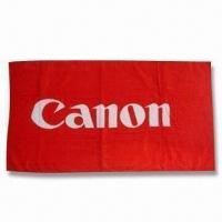 Wholesale Promotional Beach Towel, Made of 100% Cotton, Customized Logos, Weights and Sizes are Accepted from china suppliers