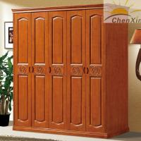 Wholesale Durable Vintage Shiny Solid Wood Wardrobe Closet For Bedroom 635MM Width from china suppliers
