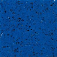 Wholesale Crystal Light Blue artificial quartz stone worktops / Polished quartz kitchen counter tops from china suppliers