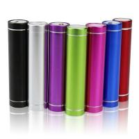 Wholesale Colorful 2600mAh Cylinder USB Power Bank External Battery Charger from china suppliers