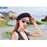 Wholesale Painters Winter Wool Hats For Women , White / Black Girls Beret Hat from china suppliers