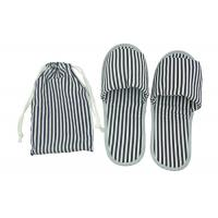Wholesale Portable Disposable Airline Amenity Kit / Foldable Open Toe Slippers With A TC Fabric Pouch from china suppliers