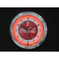 Wholesale Beautiful Round Yellow / Red Neon Wall Clock With Custom Logos from china suppliers