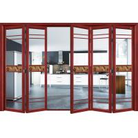 Wholesale Commercial Exterior Double Folding Doors / Aluminium Folding Patio Doors from china suppliers