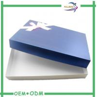 Wholesale Customized Origami Clothing Gift Boxes Deboss Logo With Bowknot from china suppliers