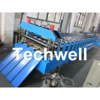 Wholesale Metal Roofing Sheet Cold Roll Forming Machine with Hydraulic Post Cutting from china suppliers