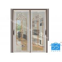 Wholesale Bevel Clear Sliding French Patio Doors , Safety French Glass Sliding Patio Doors from china suppliers