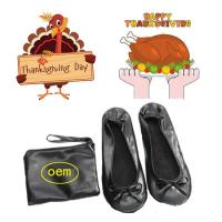 Wholesale 2018 Hot Selling PU Material Roll up and Foldable Ballet Shoe with Free Bag, Thanksgiving Gift Shoes from china suppliers