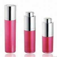 Wholesale Cosmetic Airless Bottles for Skin Care Cream, Various Colors are Available, OEM Orders are Welcome from china suppliers