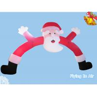 Wholesale Red Pvc Coated Cloth Inflatable Santa Arch for Christmas Decoration from china suppliers