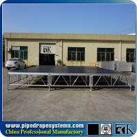 Buy cheap square loading 750kg/sqm plywood portable event stage on sale from wholesalers