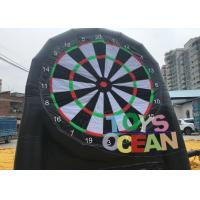 Wholesale Double Sides Inflatable Football sticky Darts Velcro Soccer Dart Goal Post from china suppliers