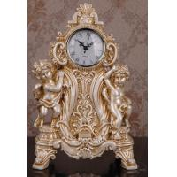 Wholesale factory price resin angle design table clock from china suppliers