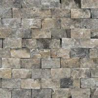 Buy cheap Nature Face Marble Stone Mosaic with Polished Surface Finish and 10 x 20 x 7 to 9mm Chip from wholesalers