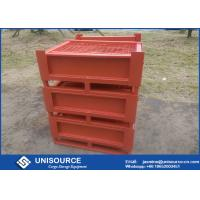 Quality Stackable Foldable Metal Box Industrial Steel Pallet Cages For Logistics Transport for sale