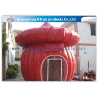 Wholesale Custom - Built Red Inflatable Air Tent Inflatable Cabin Tent With Full Anchor from china suppliers