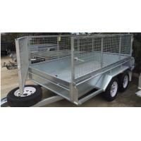 Wholesale 10x5 Hot Dipped Galvanized Cattle Crate Trailer , Cattle Transport Trailers Manufacturers from china suppliers