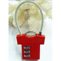 Wholesale 3 Digital T Shirt Shaped Luggage Combination Padlock from china suppliers