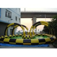 Clear PVC / TPU Inflatable Zorb Ball with 3m outer diameter / 2m inner diameter with Ramp