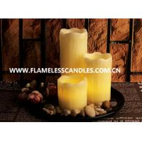 Wholesale 3 PCS Flameless Wax Dripping Votive Set With Rock And Tray from china suppliers