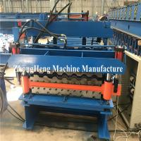 Wholesale Double-deck Tile Roofing Sheet Roll Forming Machine hydraulic motor control from china suppliers