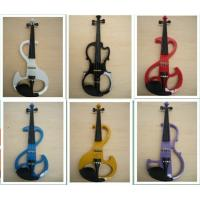 Wholesale White / Black Silent 4/4 Solid Wood Electric Violins With Ebonized Fingerboard from china suppliers