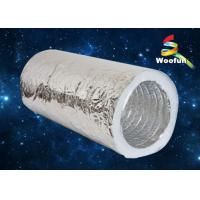Wholesale HVAC System Aluminum Foil / Fiberglass Flexible Insulated Duct Customized from china suppliers