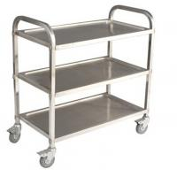 Wholesale Commercial 3 Tier Stainless Steel Serving Cart With Castors / Handle from china suppliers