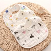 China Dyed Premium Muslin Newborn Baby Bibs Absorbent Existing Pattern Eco Friendly for sale