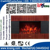 "Wholesale Wall Mount Electric Fireplace Heater Wooden Base flame EF422S/EF422SL/EF422SLB LED Log flame 35""Mahogany Effect MDF from china suppliers"