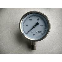 Buy cheap 4 inch All Stainless Steel Liquid Filled Gauges , Glycerine Filled Pressure Gauge from wholesalers