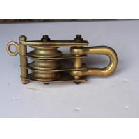 Wholesale Tower Erection Tools 20KN Three Sheave Steel Block And Tackle Pulley from china suppliers