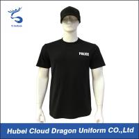 Wholesale O- Nick Security Guard T Shirts With 100% Cotton Rib Collar , Hand / Machined Wash from china suppliers