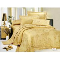 Wholesale OEM King Size Complete Bedroom Duvet Solid Gold Jacquard Bed Sets Queen from china suppliers