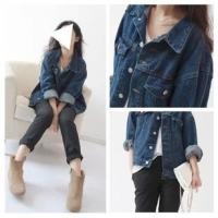 Wholesale Casual Style Sleeveless Womens Denim Jean Jackets Dark Blue Button Closure from china suppliers