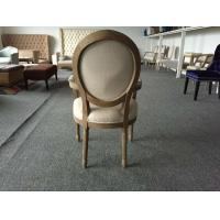Quality Antique Wood Fabric Dining Chair Furniture Banquet Armchair Uesd for Wedding Chair Hotel Chair for sale