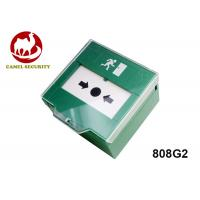Wholesale Resettable Green Break Glass Call Point Emergency Exit Switch Surface Mount from china suppliers