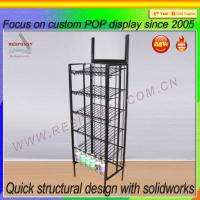 Wholesale Pos metal floor gravity feed display stand metal display stand from china suppliers