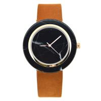 Wholesale Simple Fashion Marble Dial Watch , Wood Case Back Cover Stone Dial Watch from china suppliers