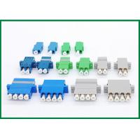 Wholesale Single Mode Multimode LC Fiber Optical Adapter Quad Blue Green Grey from china suppliers