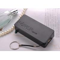 Wholesale 5200mAh Rectangle Black External Portable Power Bank For Mobile Devices from china suppliers